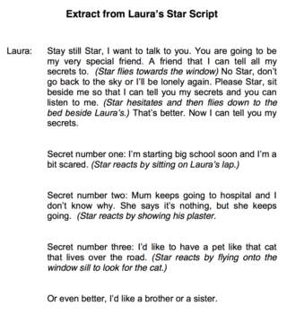 Extract from the Laura's Star Script