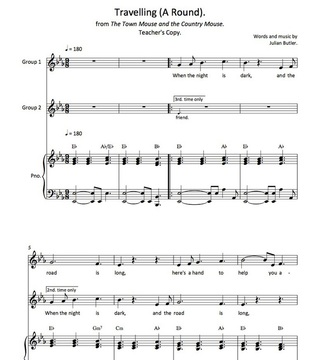 Sheet Music for the Song,